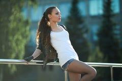 Современная девушка Стоковые Изображения RF