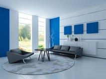 Современная живущая комната | Интерьер архитектуры Стоковое Изображение RF