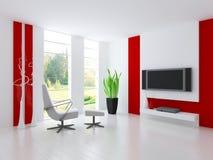 Современная живущая комната | Интерьер архитектуры иллюстрация вектора
