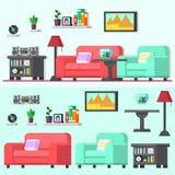 Современная живущая комната с мебелью Стоковые Фотографии RF