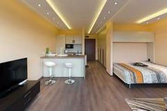 Современная живущая комната стоковое изображение