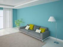 современная живущая комната Стоковые Изображения