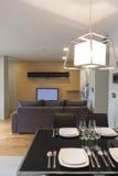 Современная жить-комната стоковое изображение rf