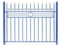 Современная загородка сини металла стоковые фотографии rf