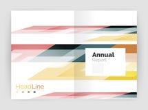 Современная линия дизайн, концепция движения Шаблоны брошюры годового отчета дела бесплатная иллюстрация