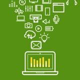 Современная иллюстрация средств массовой информации компьютера Стоковое фото RF