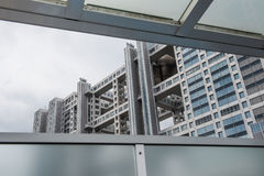 Современная картина высоких здания подъема и предпосылки неба Стоковая Фотография RF