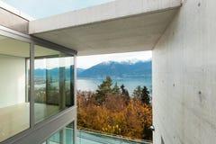 Современная квартира, взгляд от террасы Стоковое Изображение RF