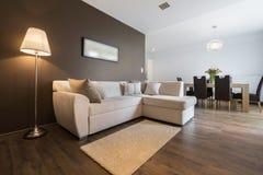 Современная квартира дизайна интерьера стоковая фотография rf