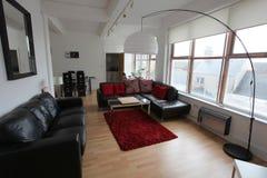 Современная квартира 2 стиля просторной квартиры Стоковые Фото