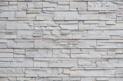 Современная кирпичная стена, картина сляба каменная как предпосылка Стоковое Фото