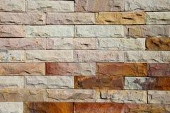 Современная кирпичная стена отделала поверхность Стоковое Фото