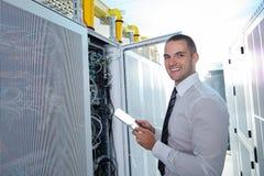 Современная комната сервера Стоковое Фото