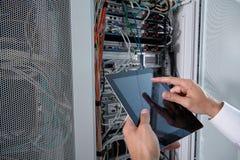 Современная комната сервера Стоковые Фотографии RF