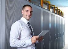Современная комната сервера стоковые изображения
