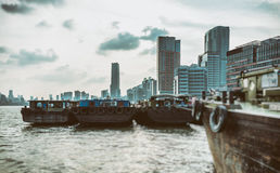 Современная конструкция города, Шанхай стоковые изображения rf