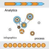 Современная концепция, аналитики и финансы дела вектора Стоковые Фотографии RF