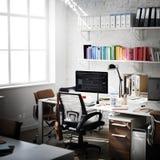 Современная концепция канцелярские товаров рабочего места комнаты Стоковые Фотографии RF