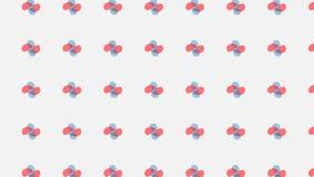 Современная красная и голубая картина цветка иллюстрация вектора