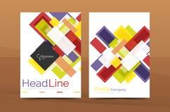 Современная красочная линия дизайны состава бесплатная иллюстрация