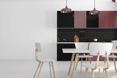 Современная кухня с copyspace иллюстрация вектора