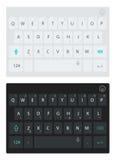 Современная клавиатура smartphone, кнопки алфавита Клавиатура вектора темная и светлая Стоковая Фотография RF