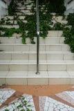 Современная лестница покрытая с засорителями Стоковая Фотография