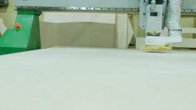 Современная машина с CNC, филируя механический инструмент woodworking токарного станка woodworking с CNC, продукцией мебели акции видеоматериалы