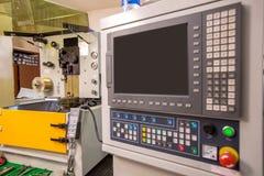 Современная машина дуговой резки Мастерская производства стоковая фотография rf