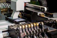 Современная машина для продукции панелей СИД стоковое изображение rf