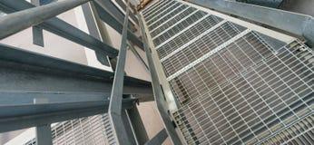 Современная металлическая структура внутри склада Пустая окружающая среда Стоковая Фотография RF