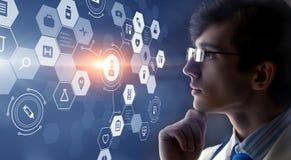 Современная медицинская концепция технологий Мультимедиа Стоковая Фотография