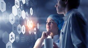 Современная медицинская концепция технологий Мультимедиа Стоковые Фото