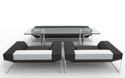 Современная минималистская мебель установила 2 Стоковое фото RF
