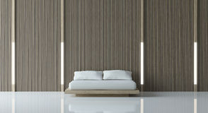 Современная мирная спальня Стоковая Фотография RF