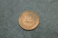 Современная монетка 10 иен стоковые фото