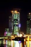 Современная Москва на ноче стоковое фото rf