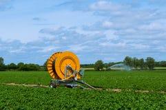 Современная оросительная система, суффольк, Англия, Великобритания Стоковое Изображение