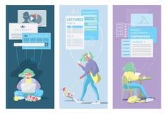 Современная плоская идея проекта онлайн образования бесплатная иллюстрация