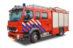 Современная пожарная машина изолированная на белой предпосылке стоковые фотографии rf