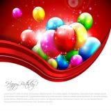 Современная поздравительная открытка дня рождения Стоковые Фотографии RF