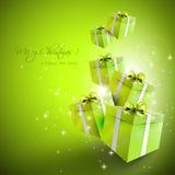 Современная поздравительная открытка рождества Стоковые Изображения RF