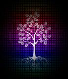 Современная предпосылка силуэта дерева иллюстрация вектора