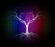 Современная предпосылка силуэта дерева иллюстрация штока