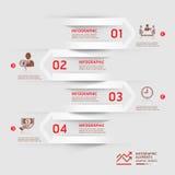 Современная предпосылка стрелки infographics дела. Стоковые Фото