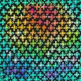 Современная предпосылка с красочными крестами радуги Стоковые Изображения RF