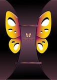Современная предпосылка с украшает бабочку бесплатная иллюстрация