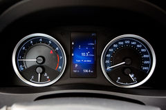 Современная приборная панель автомобиля стиля Стоковое Изображение RF