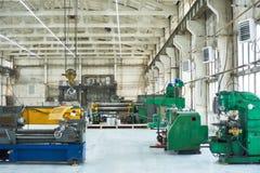 Современная промышленная мастерская с машинами Стоковое Изображение
