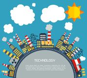 Современная промышленная плоская infographic предпосылка стоковая фотография